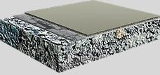 Exemplu a straturilor pardoselilor poliuretanice/hidroizolatii poliurea